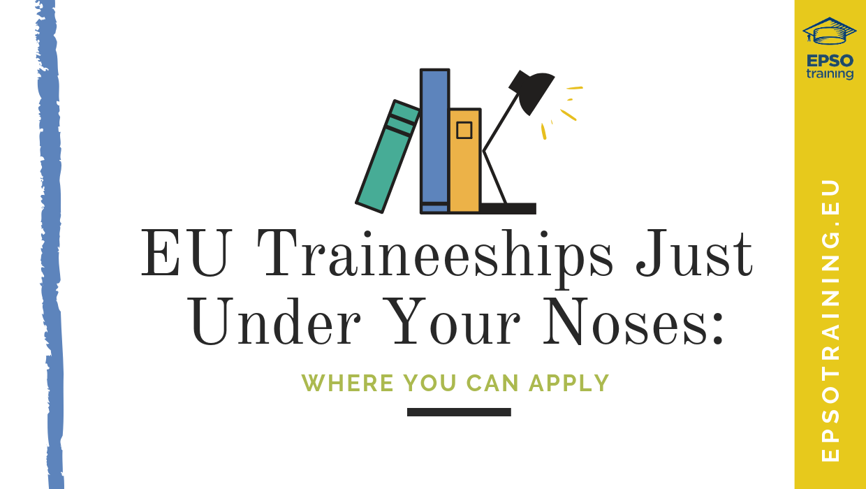 EU Traineeships, EU Traineeships Just Under Your Noses: Where You Can Apply, Epsotraining - EPSO Tests for EU Competitions